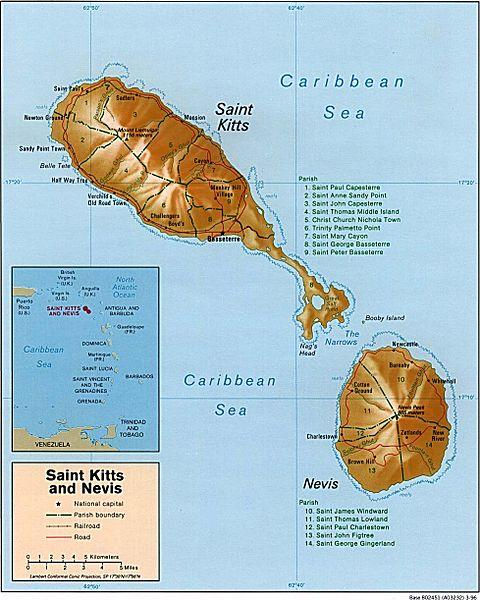 Federation Of Saint Kitts And Nevis Quiz Questions - Saint kitts and nevis map quiz