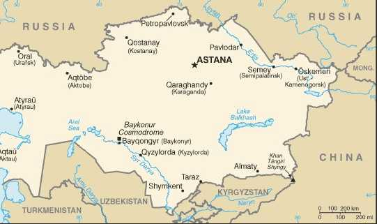 Kazakhstan Home Of The Free Spirited Quiz Questions - Kazakhstan map quiz
