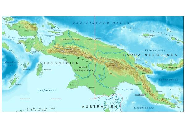 Papua new guinea unity in diversity quiz 10 questions as this map shows there is a large mountainous area running the length of the island of new guinea where you will find mount wilhelm the highest point in sciox Image collections